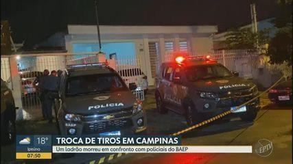 Homem é morto durante troca de tiros com policiais do Baep em Campinas