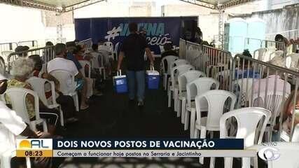 Ponto de vacinação começa a funcionar no estacionamento do Ginásio Arivaldo Maia