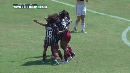 Gols de Fluminense 2 x 1 Internacional, pelo Brasileirão Feminino Sub-18
