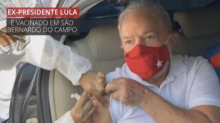 VÍDEO: ex-presidente Lula toma 1ª dose da vacina contra o coronavírus