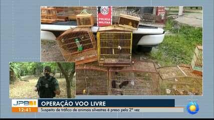 Homem suspeito de tráfico de animais é preso e 75 aves silvestres são apreendidas na PB