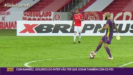 Com Ramírez, goleiros do Inter vão ter que saber jogar com os pés na saída de bola