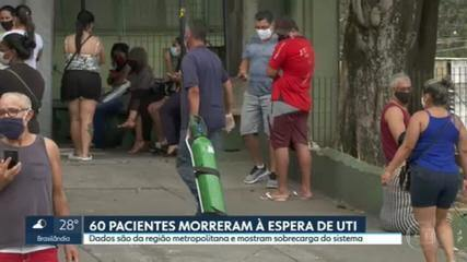 60 pacientes morreram à espera de UTI na região metropolitana