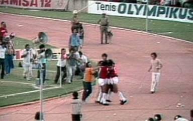 Em 1979, os gols de Internacional 2 x 1 Vasco, pela final do Campeonato Brasileiro