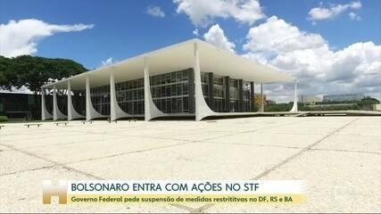 Bolsonaro entra no STF para derrubar medidas de governadores para controlar pandemia
