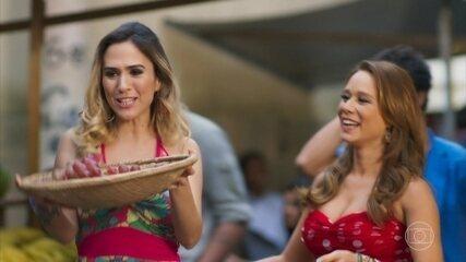 Tancinha dá dicas de feirante para Fedora