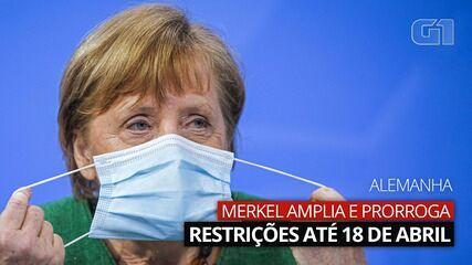 VÍDEO: Merkel decreta aumento de restrições na Alemanha