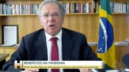 Guedes diz que, após aprovação do Orçamento, governo deve antecipar benefícios de aposentados