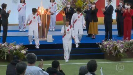 Revezamento da Tocha Olímpica começa no Japão