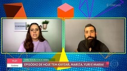 'Sincerão dos BBBs': Kaysar, Mariza, Yuri e Maria comentam o 'BBB21'