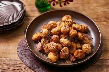 Batatas assadas no sal grosso da Rita Lobo
