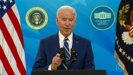 EUA já possuem doses suficientes para vacinar nove de dez americanos, diz Biden