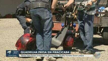 Quadrilha é presa após série de furtos em lojas de Piracicaba