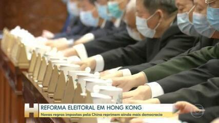 China aprova reforma drástica no sistema eleitoral de Hong Kong