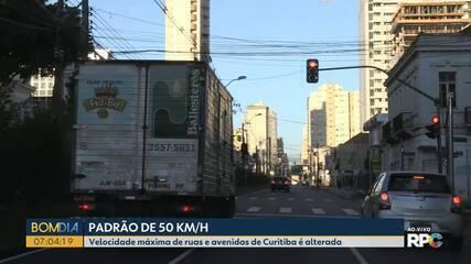 Velocidade máxima de ruas e avenidas de Curitiba é alterada