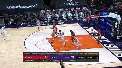 Melhores momentos: Phoenix Suns 117 x 110 Atlanta Hawks pela NBA