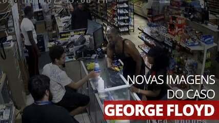 Novas imagens mostram George Floyd em loja antes da abordagem policial