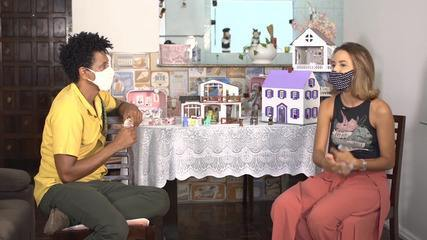 Artista Rafaela Amaral mostra o processo da criação de casas em miniatura