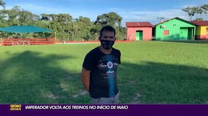 Galvez espera retomar atividades e treinos do clube em maio