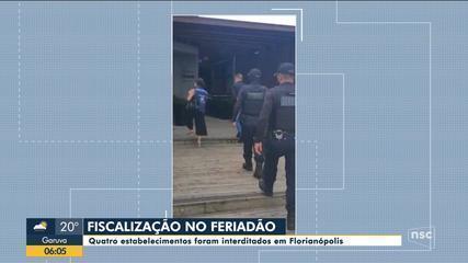 Quatro estabelecimentos são interditados em Florianópolis