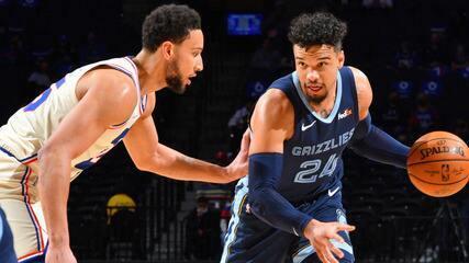 Melhores momentos: Philadelphia 76ers 100 x 116 Memphis Grizzlies pela NBA