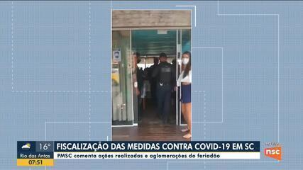 PMSC comenta ações de fiscalização das medidas contra a Covid-19 no feriado em SC