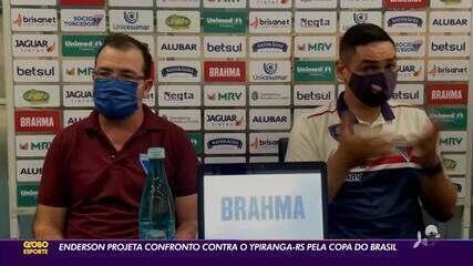 Enderson Moreira projeta confronto contra Ypiranga-RS pela Copa do Brasil