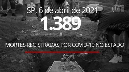 VÍDEO: SP bate novo recorde e registra 1.389 mortes por Covid-19 em 24 horas