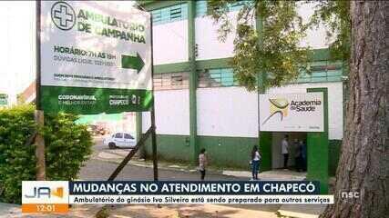 Ambulatório montado em centro de eventos em Chapecó é desativado