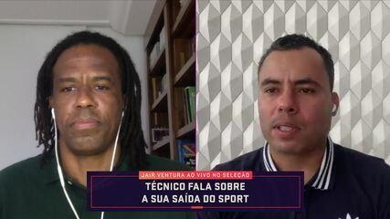 """Jair Ventura fala sobre saída do Sport: """"É a vida do treinador. Sabemos como funciona"""""""
