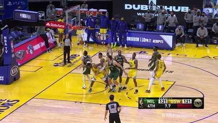 Melhores momentos: Golden State Warriors 122 x 121 Milwaukee Bucks, pela NBA