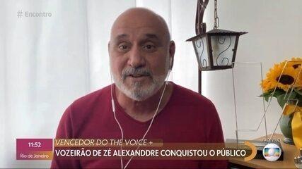 Vozeirão de Zé Alexanddre conquistou público do 'The Voice+'