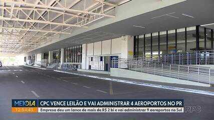 Quatro aeroportos paranaenses serão privatizados
