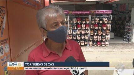 Moradores e comerciantes do centro de Vitória da Conquista estão sem água há 11 dias