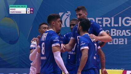 Melhores momentos: Minas 3 x 0 Itapetininga, pelas semifinais da Superliga Masculina de Vôlei