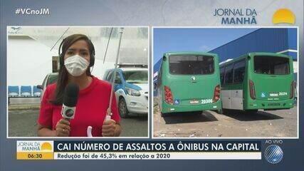 Número de assaltos a ônibus diminui no ano de 2021 em Salvador