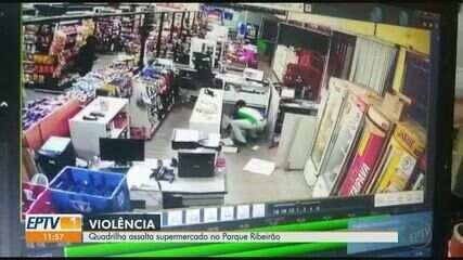 Quadrilha assalta supermercado em Ribeirão Preto, SP
