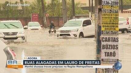 Chuva forte é registrada na Região Metropolitana de Salvador, nesta quinta-feira