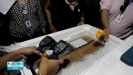 Pernambuco recebe lote de vacinas contra a Covid-19 com 187 mil doses