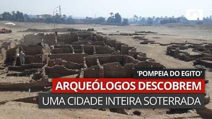 VÍDEO: Imagens mostram sítio apelidado por arquélogos como 'Pompeia do Egito'