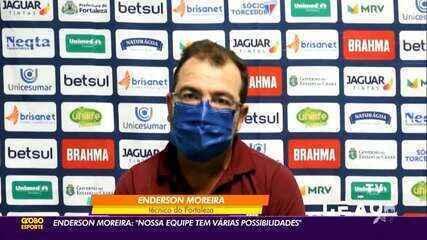 """Enderson Moreira afirma: """"Nossa equipe tem várias possibilidades"""""""