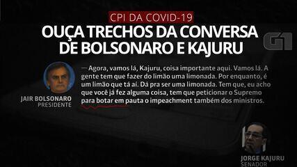 Veja trechos da conversa entre Bolsonaro e Kajuru