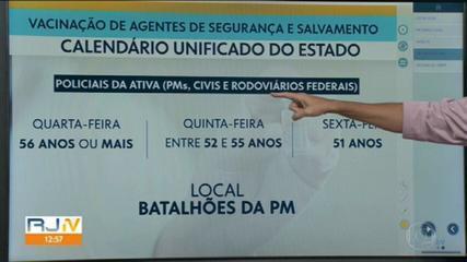 RJ divulga calendário de vacinação da Covid para Segurança Pública
