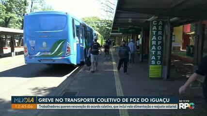Trabalhadores do Transporte Coletivo fazem paralisação em Foz do Iguaçu
