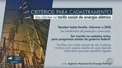 Tarifa social de energia pode beneficiar mais 51 mil clientes na região de Campinas