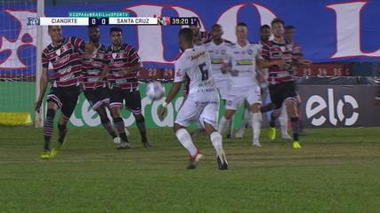 Melhores momentos: Cianorte 1 x 0 Santa Cruz pela segunda fase da Copa do Brasil
