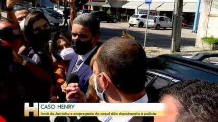 Caso Henry: irmã de Jairinho e empregada do casal dão depoimento à polícia