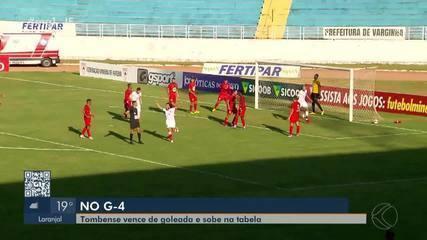 Tombense goleia Boa Esporte e entra no G-4 do Mineiro