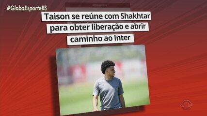 Taison se reúne com Shakhtar para obter liberação e abrir caminho ao Inter