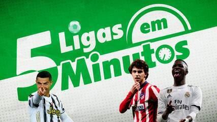 5 ligas em 5 minutos: Real pode tomar liderança do Atlético, e Juve enfrenta a Atalanta